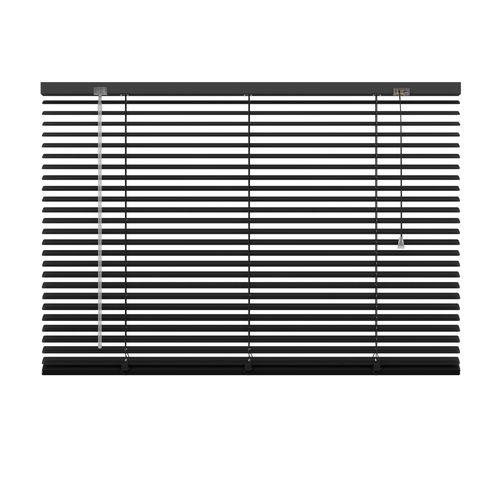 Decosol jaloezie horizontaal aluminium zwart 25mm 100x180cm