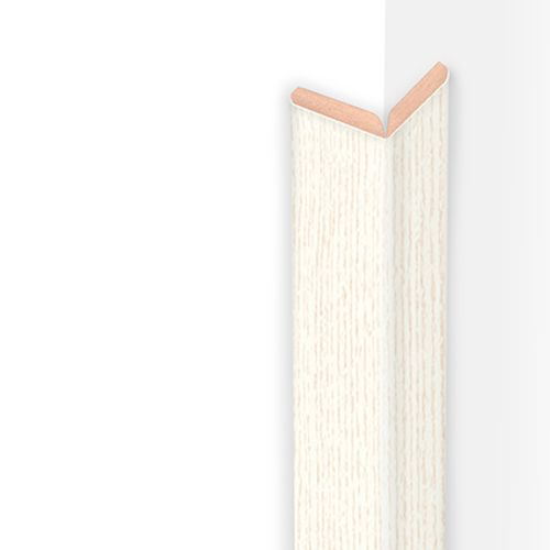 Moulure pliable HDM blanc structuré 22mm