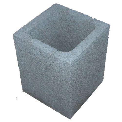 Pilier à enduire Penez Herman béton gris 20 x 20 x 25 cm