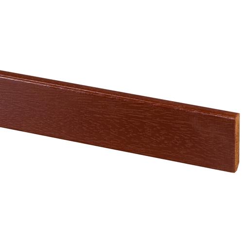 Muurplint massief hardhout 55x12mm gelakt 240cm