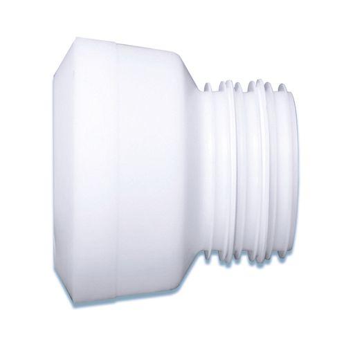 Manchon pour WC Saninstal excentrique Ø88/92mm blanc avec joint à lèvre